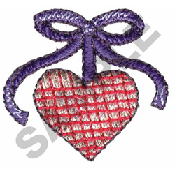 HEART WITH RIBBON embroidery design