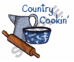 COUNTRY COOKIN embroidery design
