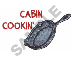 CABIN COOKIN embroidery design