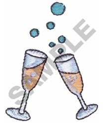 CHAMPAIGN GLASSES embroidery design