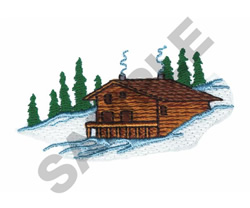 MOUNTAIN CABIN embroidery design