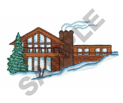 SKI LODGE embroidery design
