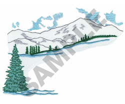 MOUNTAINS IN WINTER embroidery design