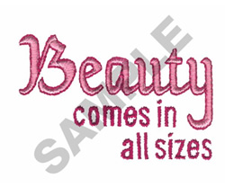 BEAUTY embroidery design