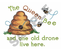 THE QUEEN BEE embroidery design