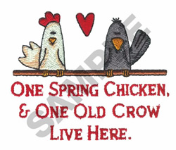 One Spring Chicken embroidery design