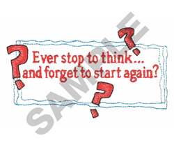 EVER STOP... embroidery design
