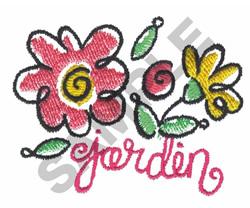 GARDEN embroidery design