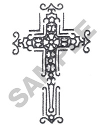 ETCHED CROSS embroidery design