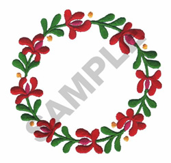 FLORAL ROUND embroidery design