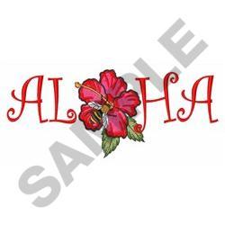 ALOHA HIBISCUS embroidery design
