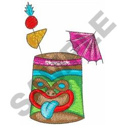 TROPICAL DRINK embroidery design