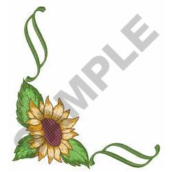 SUNFLOWER CORNER BORDER embroidery design