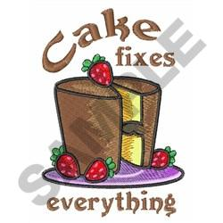 CAKE FIXES EVERYTHING embroidery design