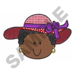 RED HAT WOMAN embroidery design