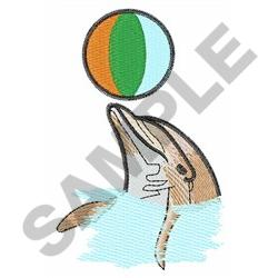 DOLPHIN WITH BEACHBALL embroidery design