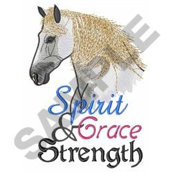 SPIRIT GRACE AND STRENGTH embroidery design