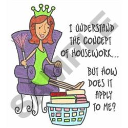 THE CONCEPT OF HOUSEWORK embroidery design