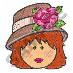 WOMAN WEARING A HAT embroidery design