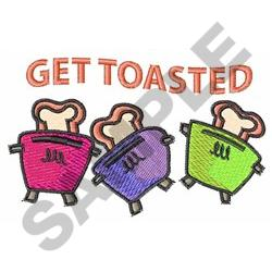 GET TOASTED embroidery design