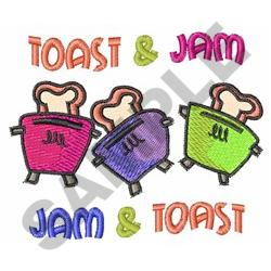 TOAST AND JAM embroidery design