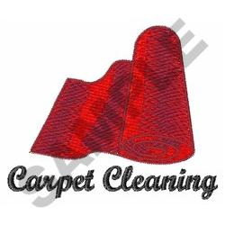 CARPET CLEANING embroidery design