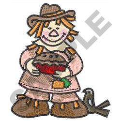 SCARECROW WITH PIE embroidery design