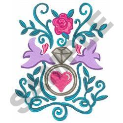 machine embroidery wedding designs