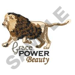 GRACE POWER BEAUTY embroidery design
