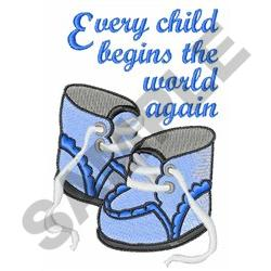 EVERY CHILD embroidery design