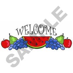 WELCOME FRUIT BORDER embroidery design