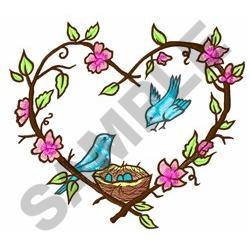 HEART NEST embroidery design