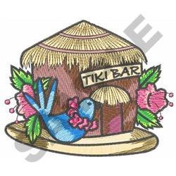 TIKI BAR BIRDHOUSE embroidery design