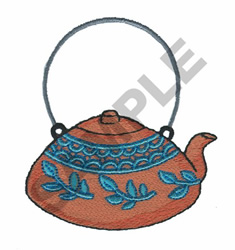 ASIAN TEAPOT embroidery design