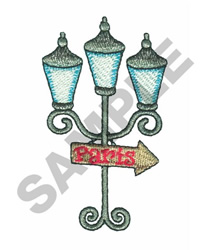 """""""TO PARIS"""" LAMP POST embroidery design"""