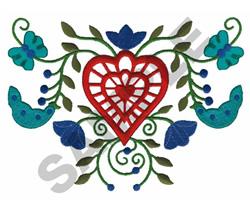 EUROPEAN FLORAL EMBLEM embroidery design