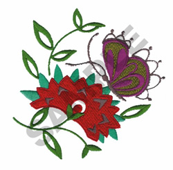 ASIAN FESTIVAL (FLOWER) embroidery design
