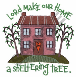 LORD MAKE OUR HOME embroidery design