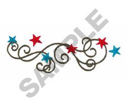 STARS AND SWIRLS embroidery design