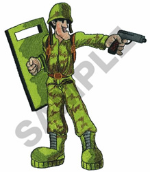CARTOON SOLDIER embroidery design