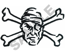 PIRATE embroidery design