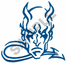 DEVIL embroidery design
