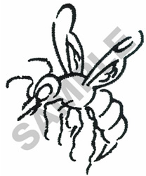 HORNET embroidery design