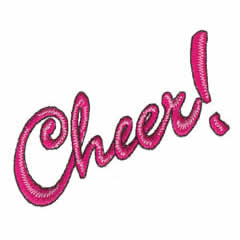 CHEER! embroidery design