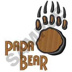 BEAR PAW PAPA embroidery design