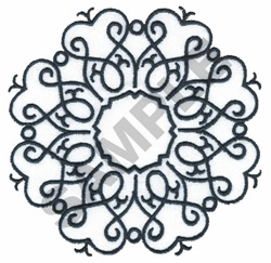 CIRCLE OF HEARTS embroidery design