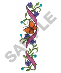BUTTERFLY, RIBBON, FLORAL embroidery design