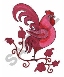 ROOSTER EMBLEM embroidery design
