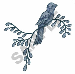 BIRD ON A BRANCH embroidery design