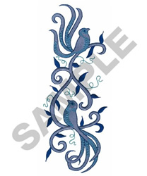 Bird Swirl Border embroidery design